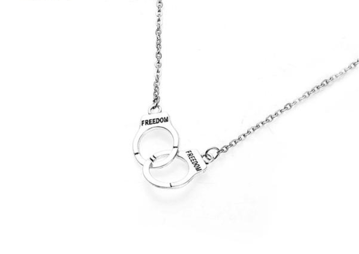 Handcuffs Jewelry Necklace
