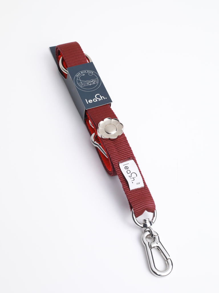 Red & merlot leash