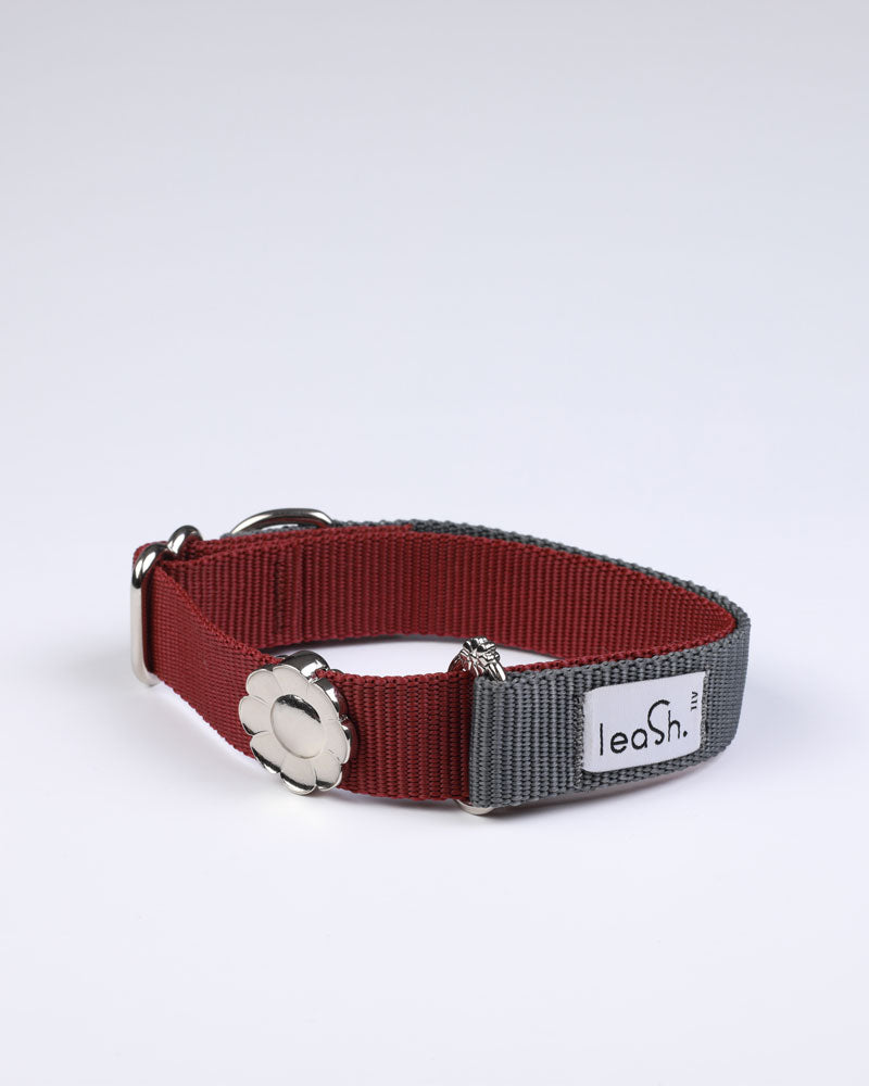 Gray & merlot Daily Collar