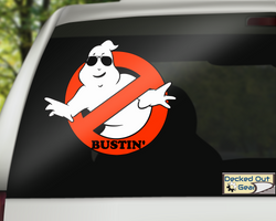 Ghostbusters 'Bustin'  vinyl decal sticker