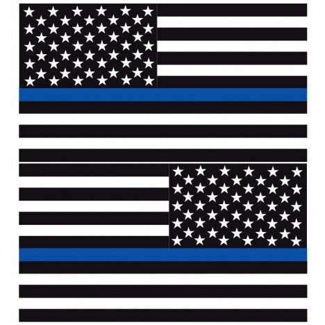 Thin Blue Line American Flags | Decal | Sticker | Vinyl