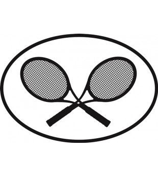 Tennis | Oval | Decal | Sticker | Vinyl