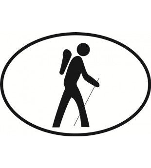HIKING | Oval | Decal | Sticker | Vinyl