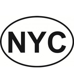 NYC New York City | Oval | Decal | Sticker | Vinyl