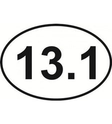 Half Marathon 13.1 Oval | Decal | Sticker | Vinyl