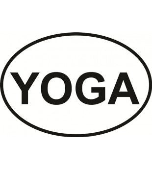 YOGA | Oval | Decal | Sticker | Vinyl