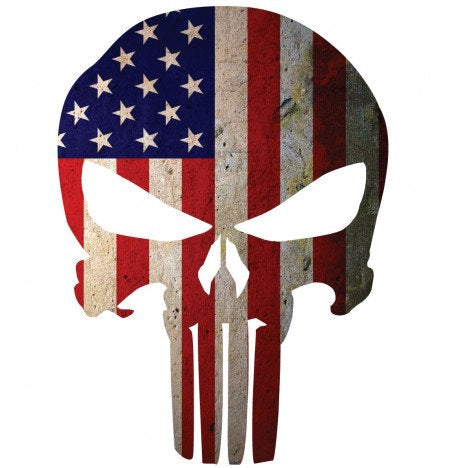 American Flag Punisher Skull Decal | Sticker | Vinyl