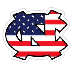 NC North Carolina State Flag Window | Car | Decal | Sticker | Vinyl