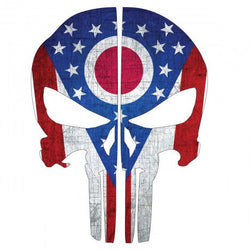 Ohio State Flag Punisher Skull | Decal | Sticker | Vinyl