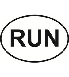 RUN | Oval | Decal | Sticker | Vinyl