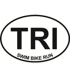 TRI Triathlon| Oval | Decal | Sticker | Vinyl