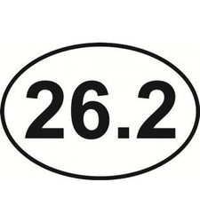Marathon 26.2 Oval | Decal | Sticker | Vinyl
