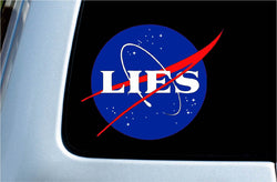 NASA LIES Vinyl Decal Sticker
