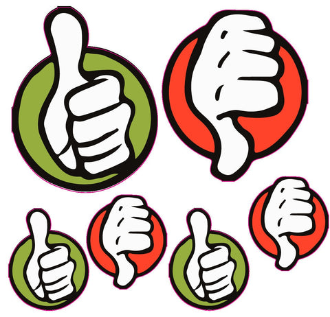 Approve Denied Thumbs Up Thumbs Down Sign Enhancement stickers | Decal | Sticker | Vinyl