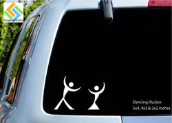 Dancing Illusion of Man Wife | Hoax on MEEPLES | Decal | Sticker | Vinyl