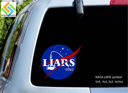 NASA LIARS Vinyl Decal Sticker