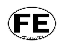 Flat Earth Travel Vinyl Decal Sticker