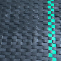 woven ground cover fabric black and green