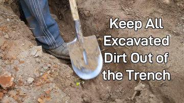 Excavating Dirt in a Trench