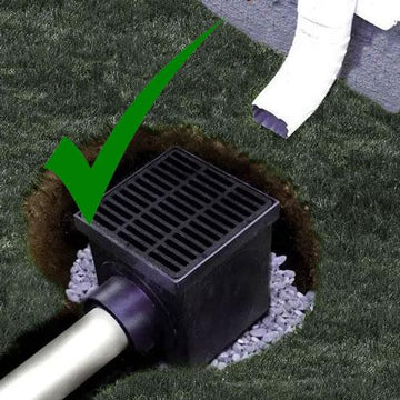 catch basin downspout french drain