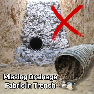 Missing Drainage Fabric in French Drain Trench