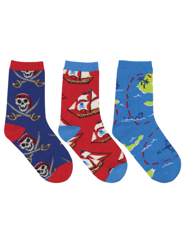 Kid's A Pirate's Life 3-Pack Socks