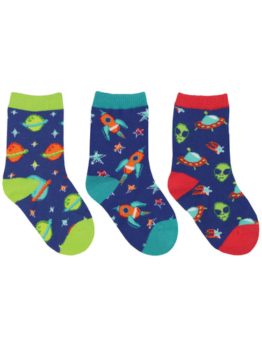 Kid's To The Moon 3-Pack Socks