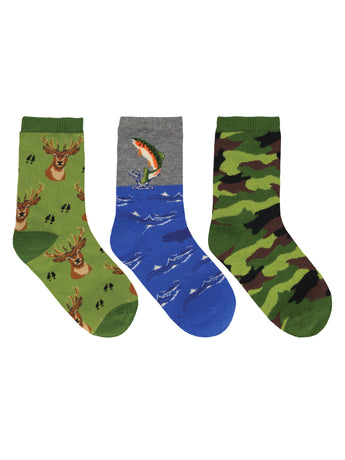 Kid's The Great Outdoors 3-Pack Socks