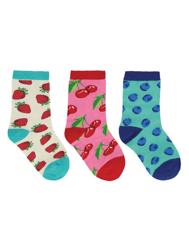 Kid's Berry Sweet 3-Pack Socks