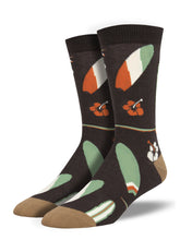 Men's Bamboo Surfboards Socks - Brown