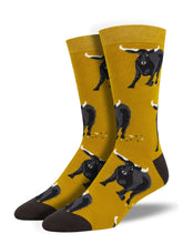 Men's Bamboo Bull Socks - Gold