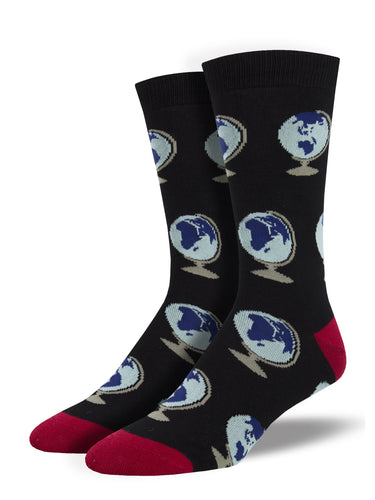 Men's Bamboo Around The World Socks - Black