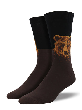 Men's Bamboo Grizzly Socks - Black