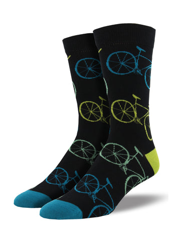 Men's Bamboo Fixie Socks - Black