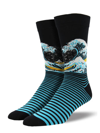Men's Bamboo The Wave Socks - Black