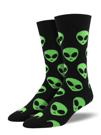 Men's We Come In Peace Socks - Black