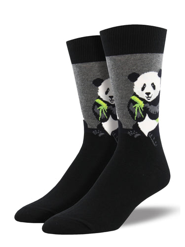 Men's Peaceful Panda Socks - Grey