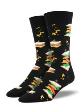 Men's Sandwiches Socks - Black