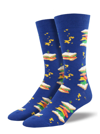 Men's Sandwiches Socks - Blue