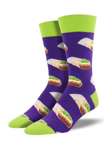 Men's Burritos Socks - Purple