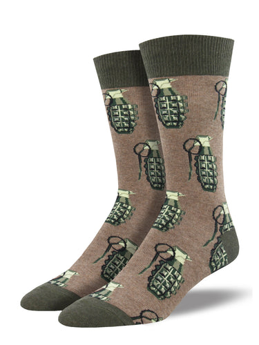 Men's Put A Pin In It Socks - Brown