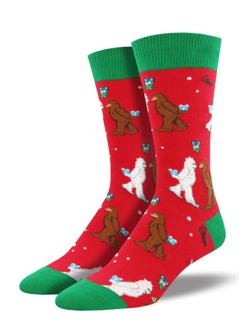 Men's Men's Mythical Kissmas Socks - Red