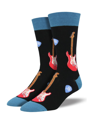 Men's Electric Guitars Socks - Black