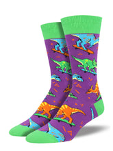 Men's Skate Or Dinosaur Socks - Purple