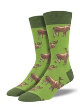 Men's Moose On The Loose Socks - Green