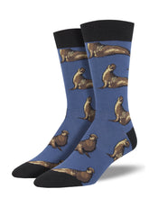 Men's Elephant Seals Socks - Blue