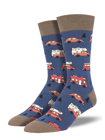 Men's Are We There Yet? Socks - Blue