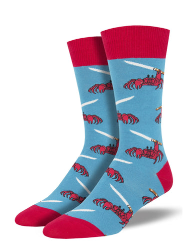 Men's Feeling Crabby Socks - Blue
