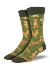 Men's Golden Retrievers Socks - Green