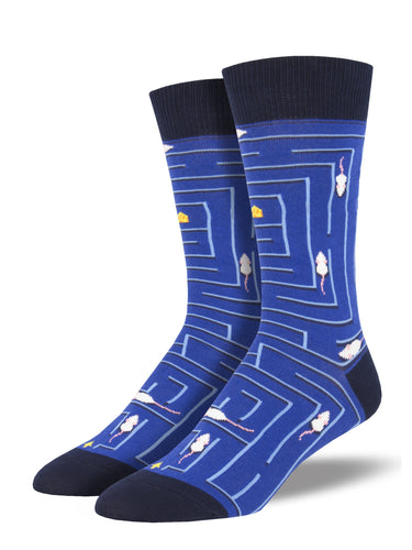 Men's Rat Race Socks - Blue